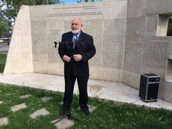 Hanti Vilmos, a Magyar Ellenállók és Antifasiszták Szövetsége (MEASZ) elnöke