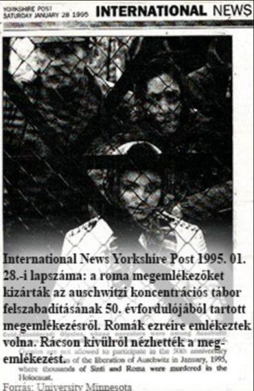 A romák nem vehettek részt a megemlékezésen