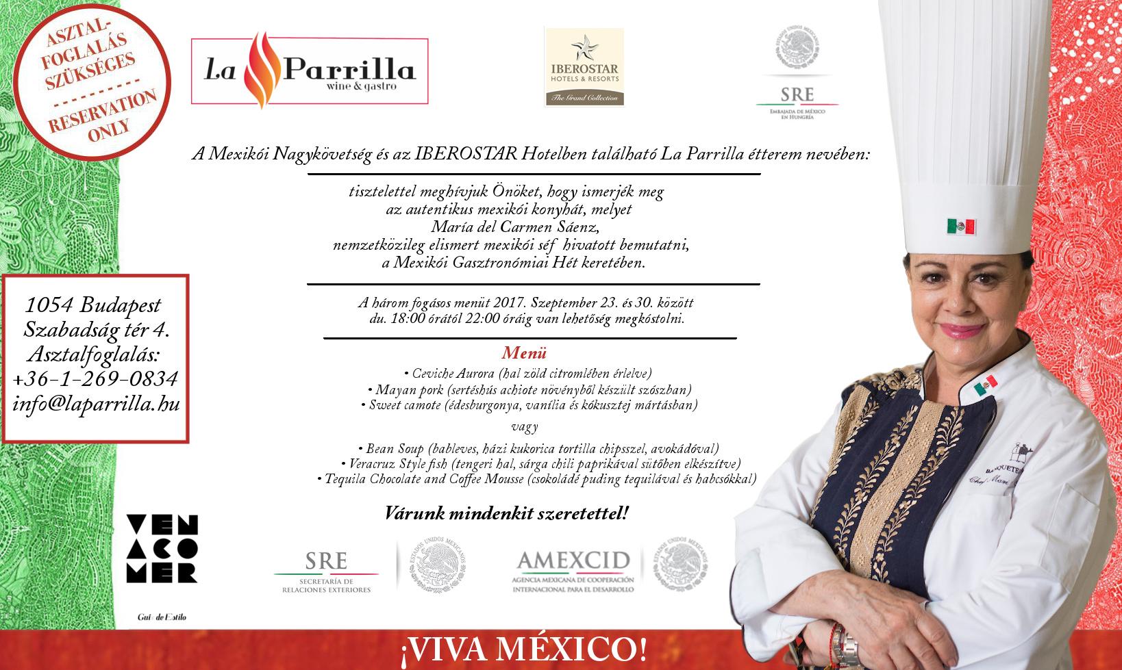 María del Carmen Sáenz - Mexikói Nagykövetség meghívó