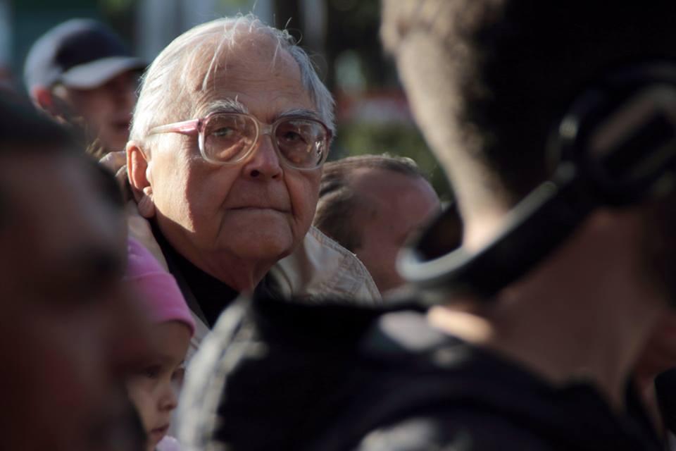 Mécs Imre '56-os hős a Roma Büszkeség Napján - fotó: Bakki László
